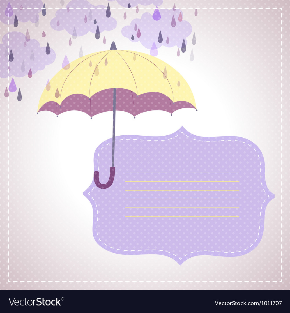 Background for messages with a yellow umbrella
