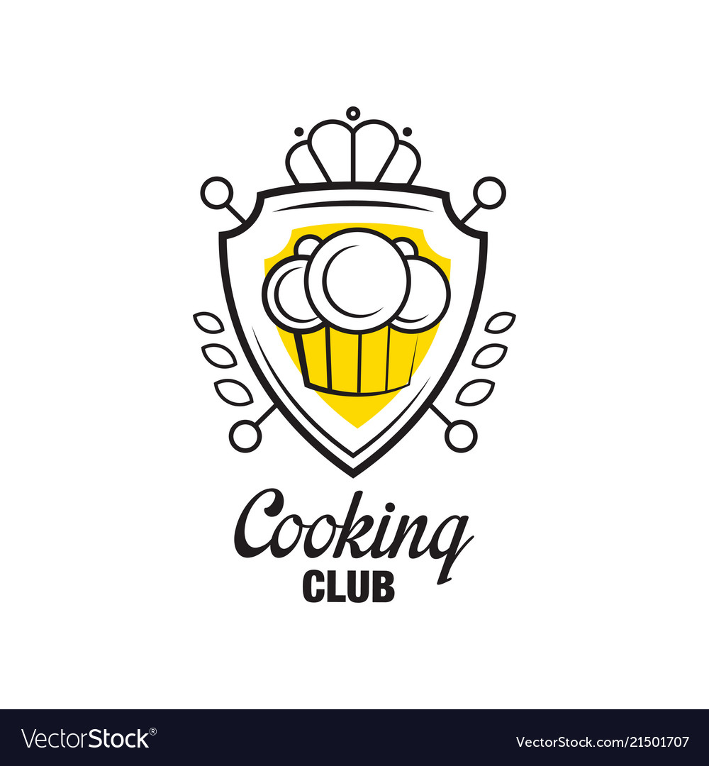 Cooking club logo design heraldic shield