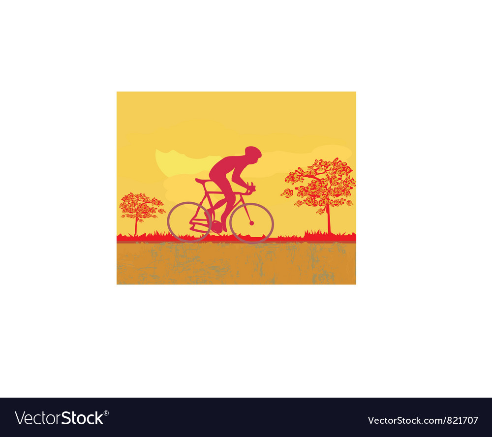 Cycling Grunge Poster Template vector image