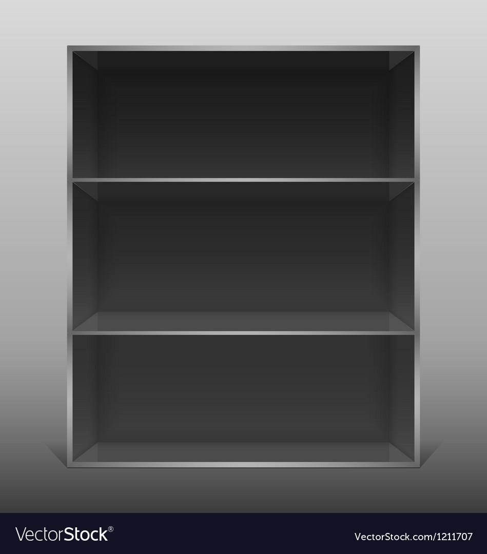 Dark empty isolated bookshelf
