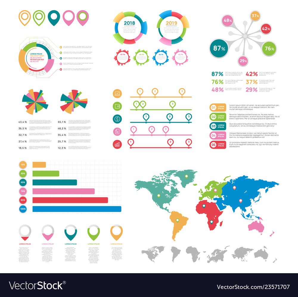 Flat infographic elements presentation chart