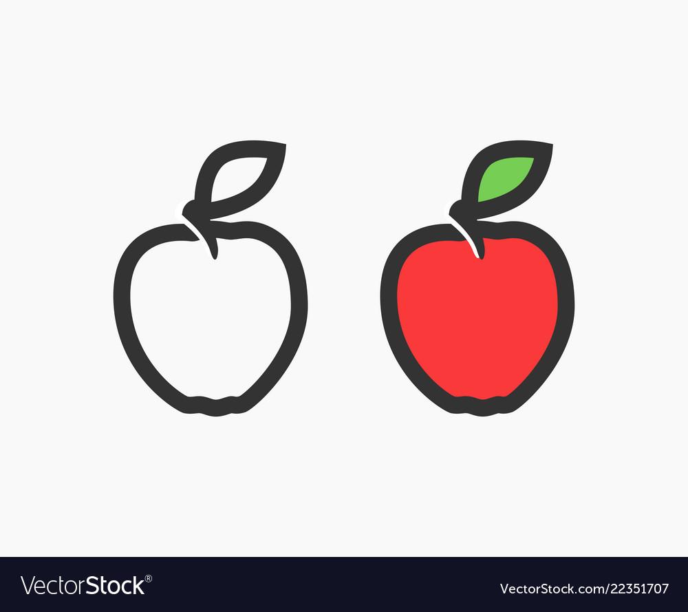 Flat logo of red apple