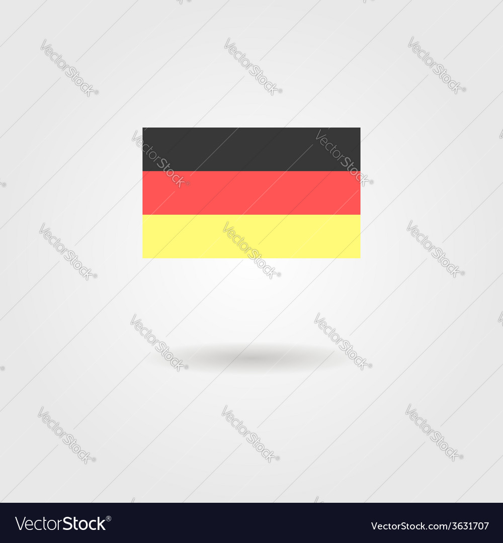 Germany flag with shadow