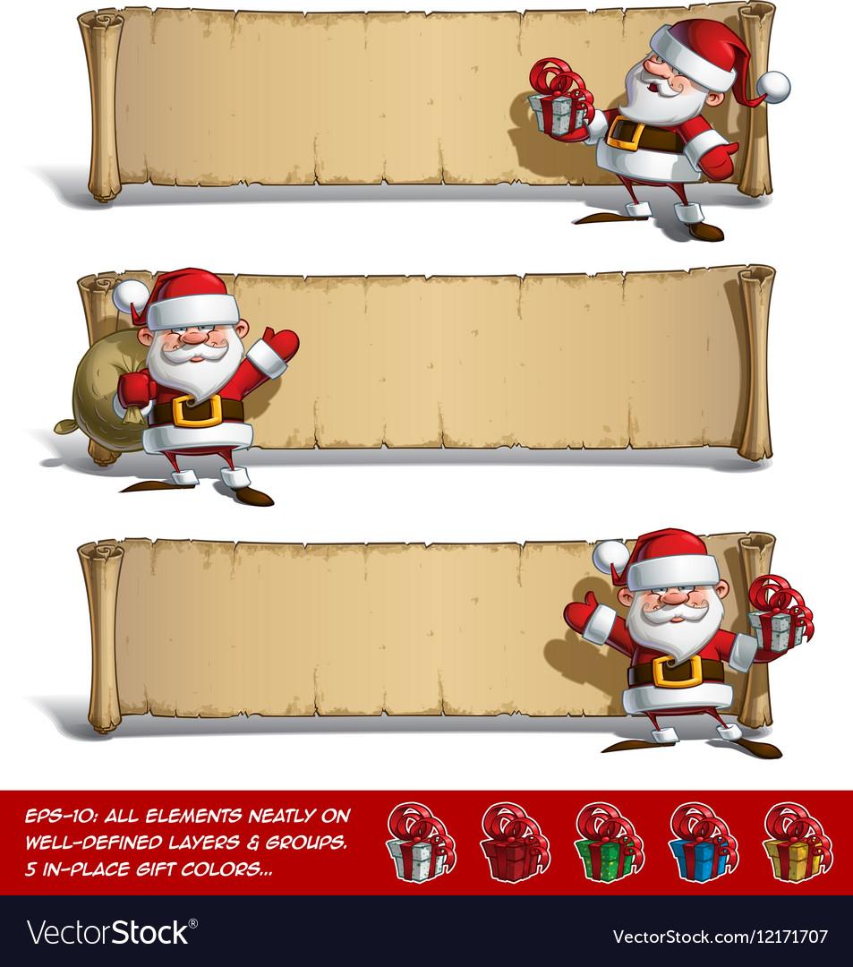 Happy Santas Papyrus Gift Set vector image