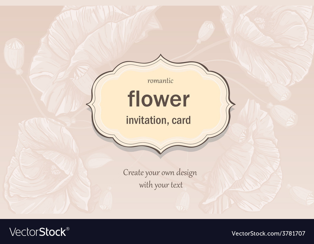 Invitation greeting card in pastel colors