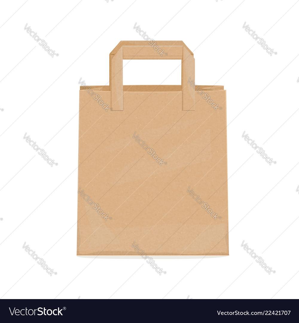 Kraft paper bag for groceries