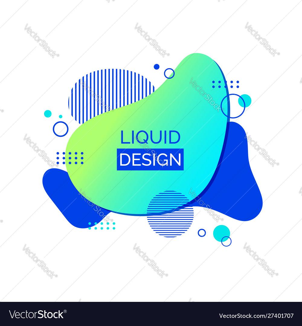 Liquid abstract shape fluid design