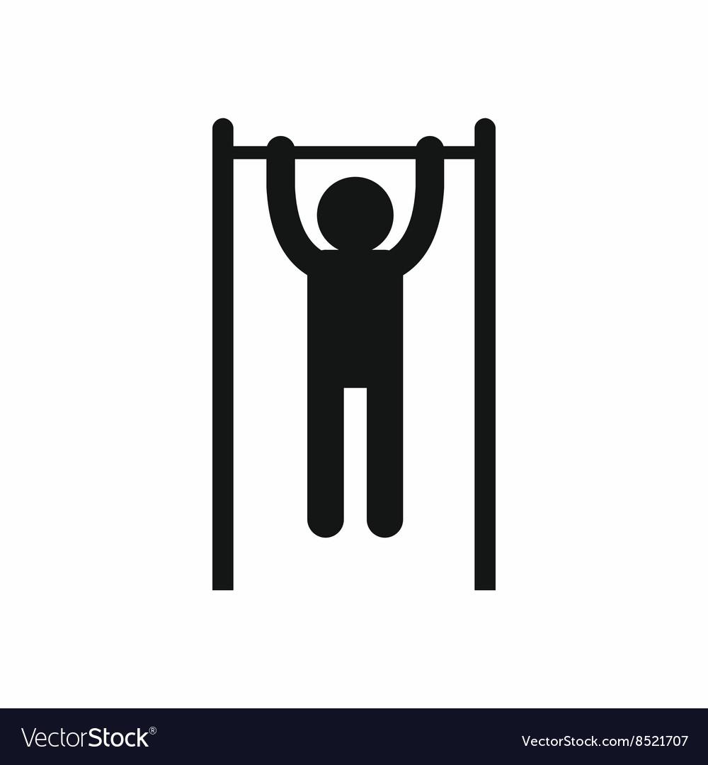 Man doing pull ups on the horizontal bar icon