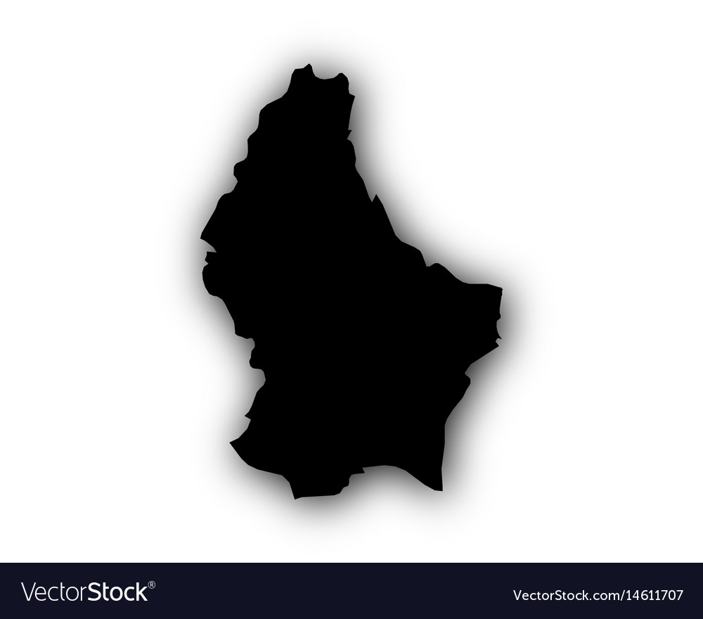 Map of luxembourg with shadow