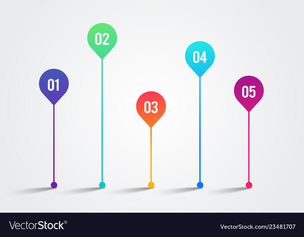 Timeline design template charts diagrams element