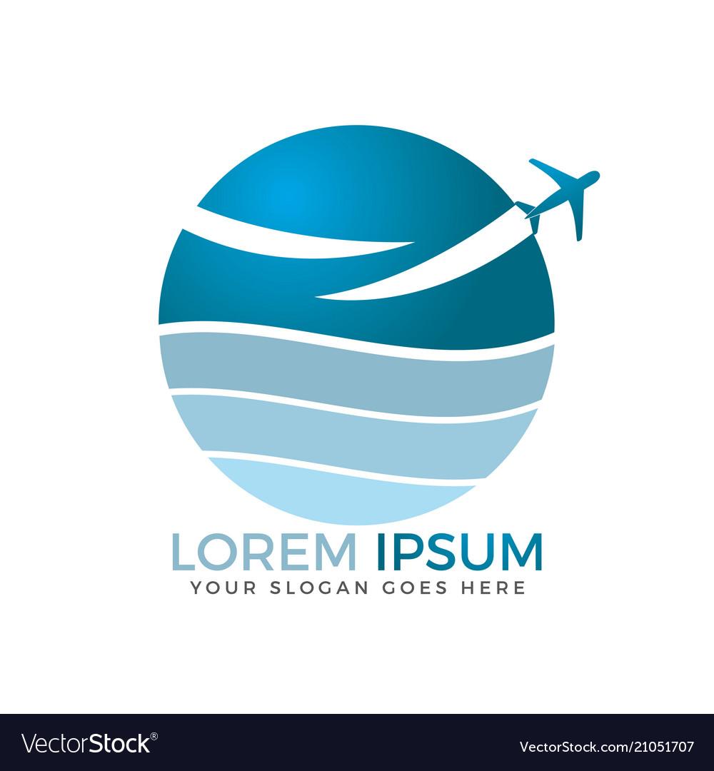 Travel agencies and aviation companies logo design