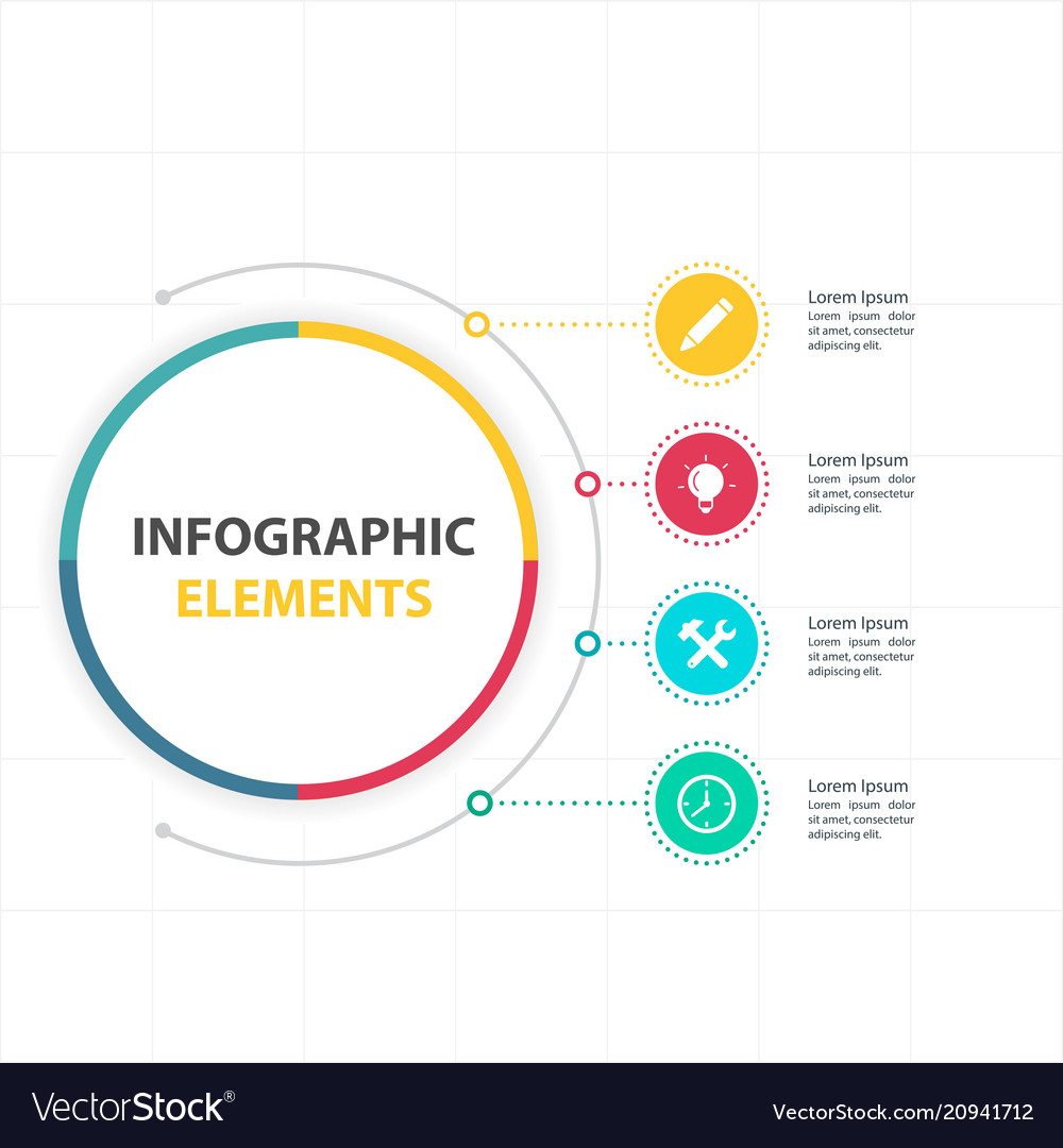 Abstract circle infographic elements with four opt