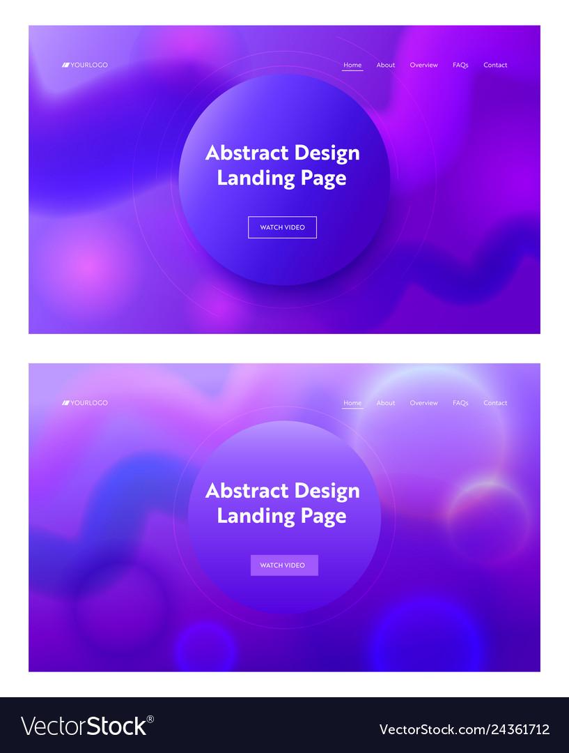 Consisting geometrical purple shape landing page