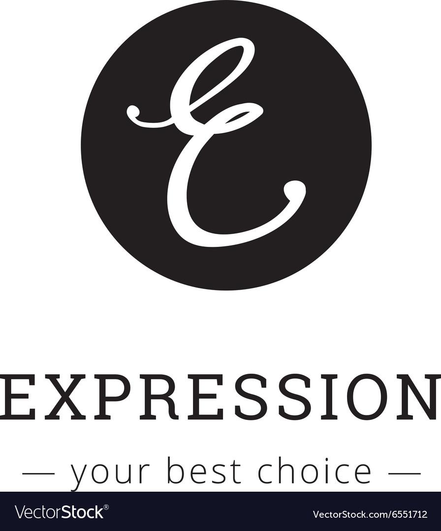 Hand drawn style elegant letter logo vector image