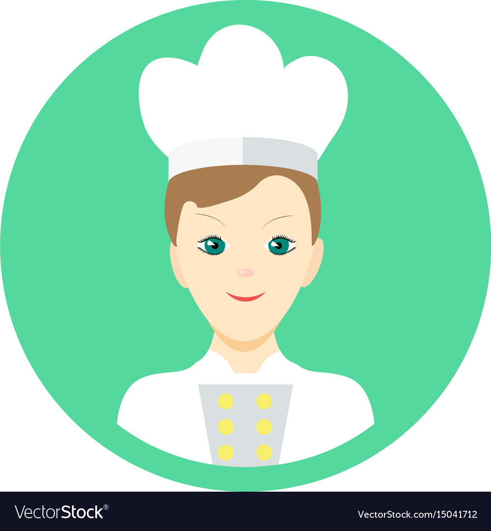 Icon man cook in a flat style image on a