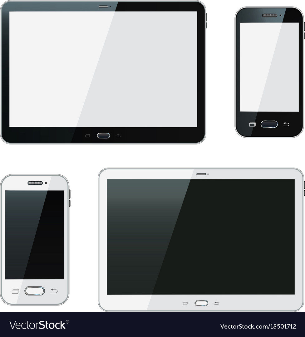 Realistic smartphone and tablet
