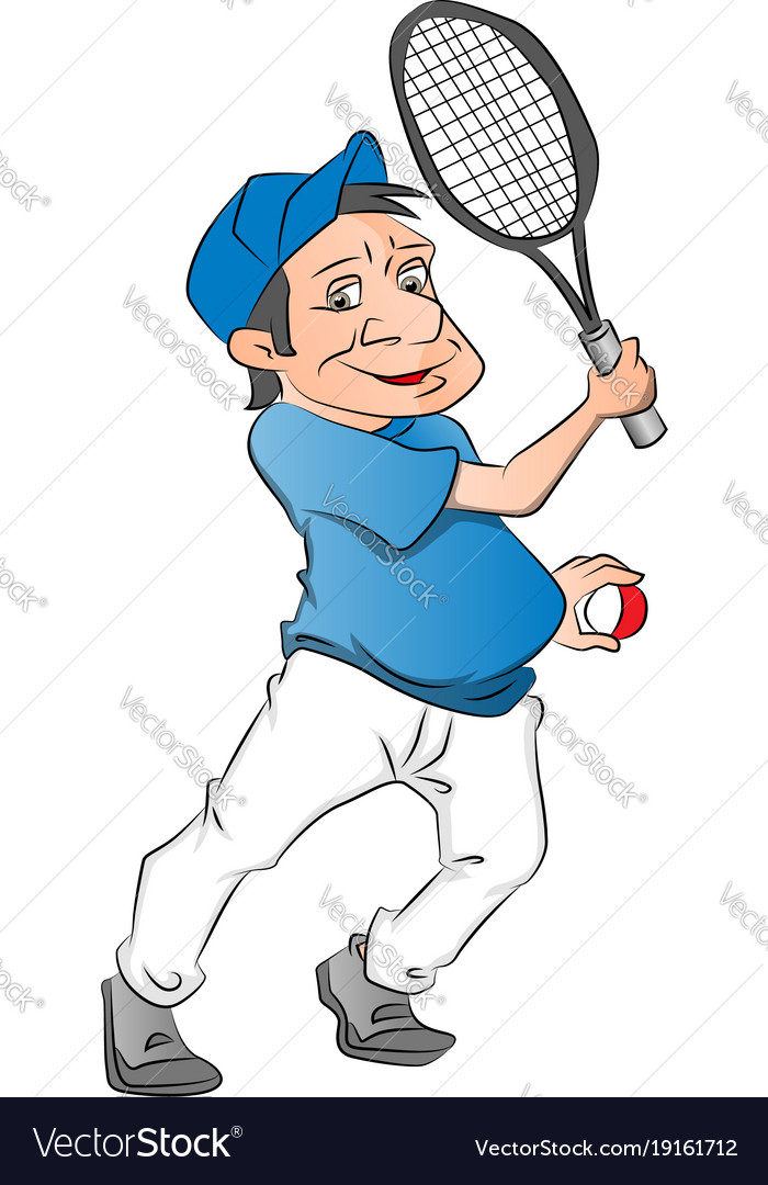 Tennis player on white