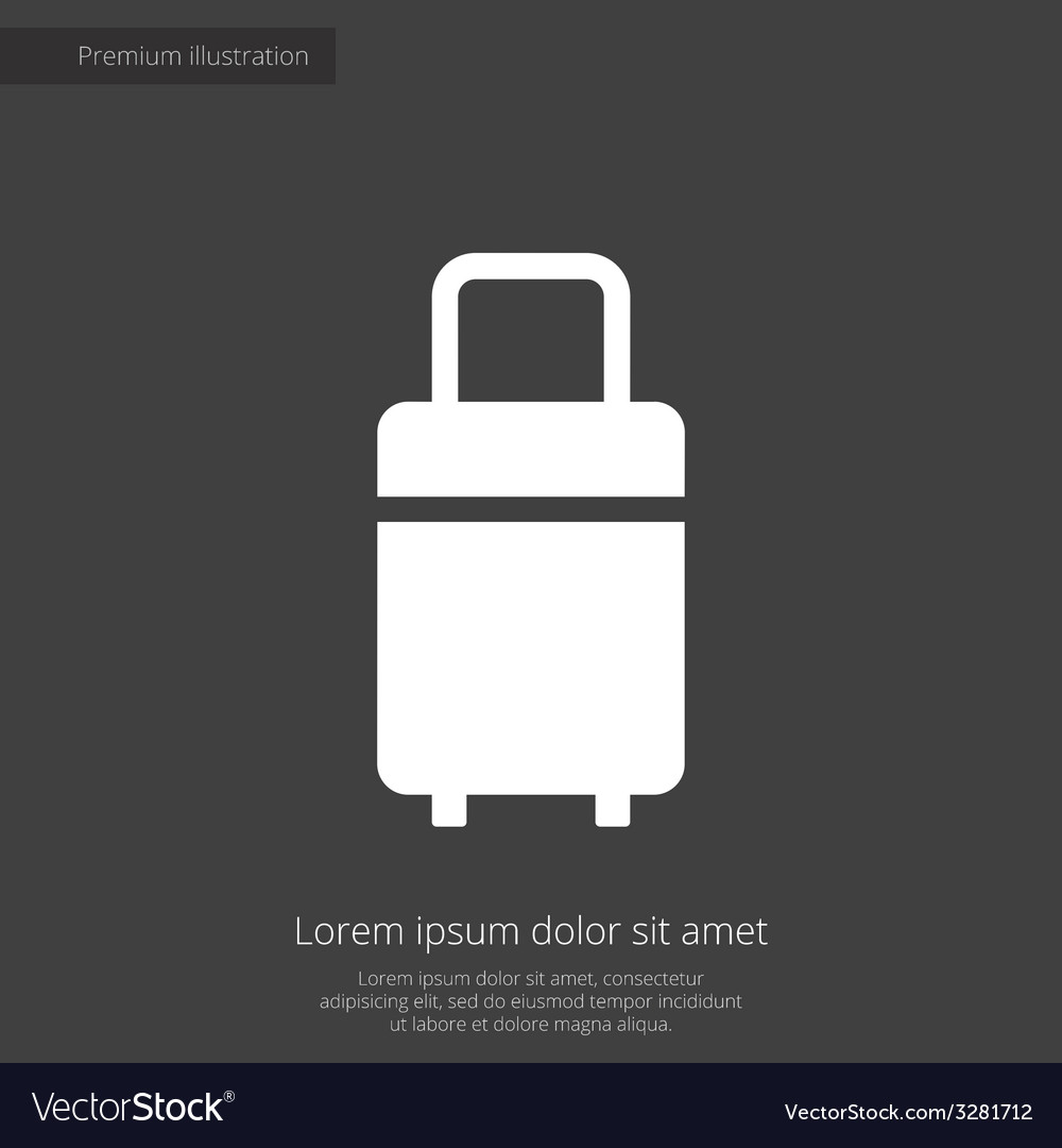 Travel bag premium icon white on dark background