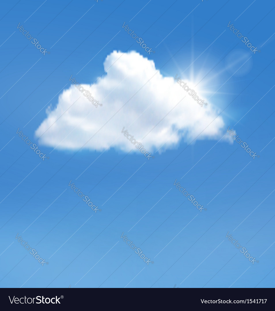 Blue sky with cloud and sun background
