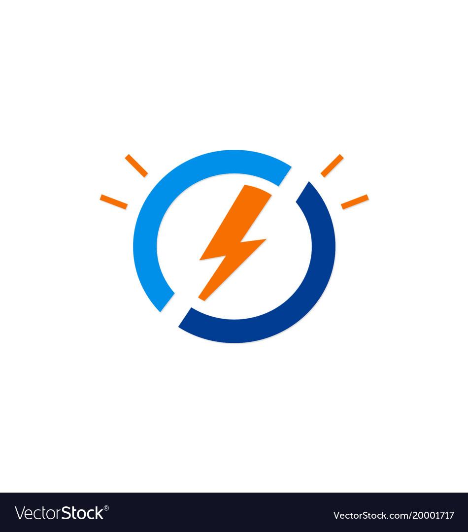 Electric light bolt icon logo