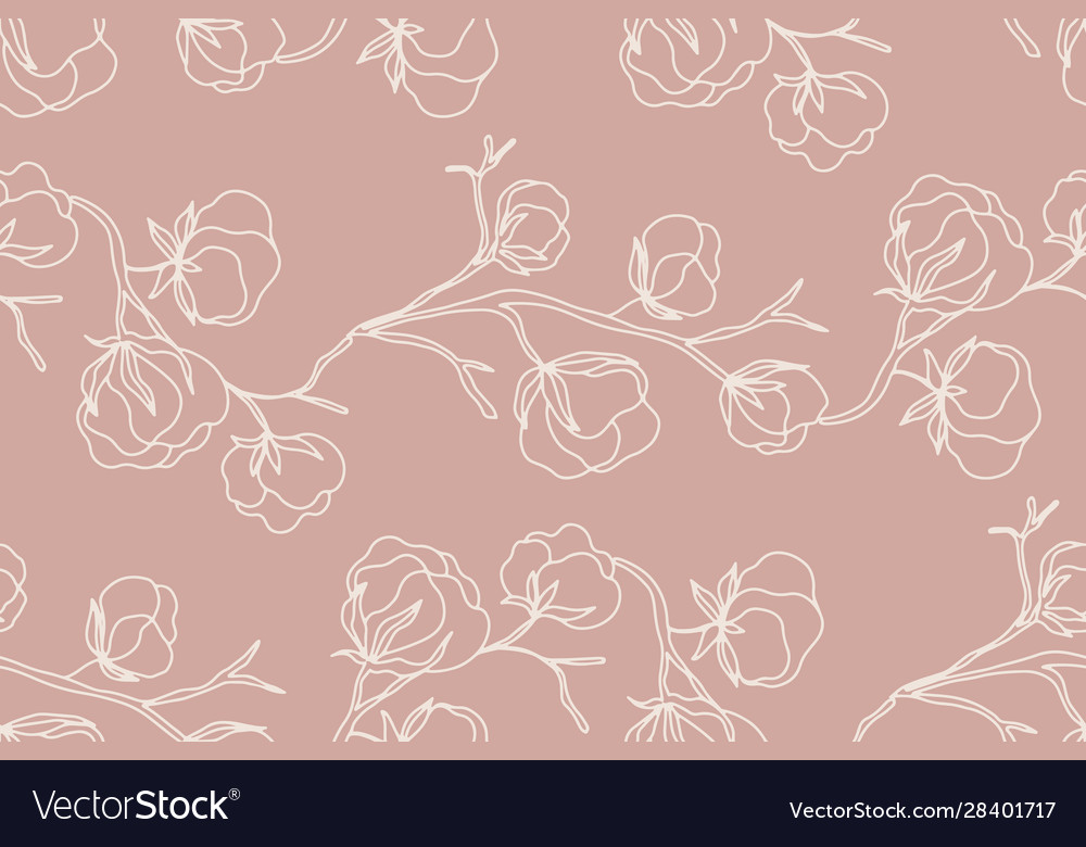 Floral seamless pattern with blossom flowers
