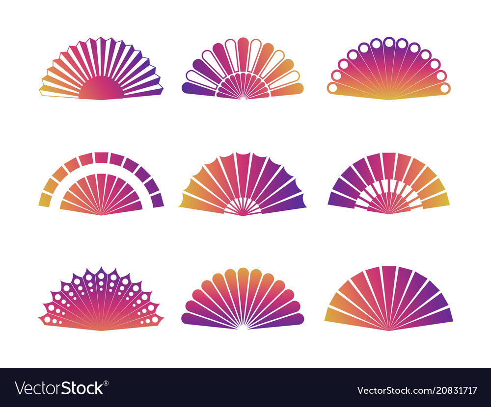 Hand fan isolated on white background fan vector image