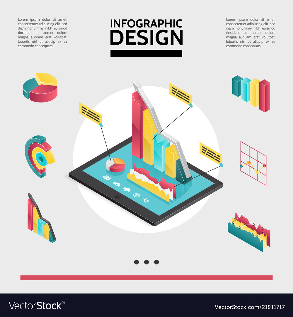 Isometric infographic elements concept