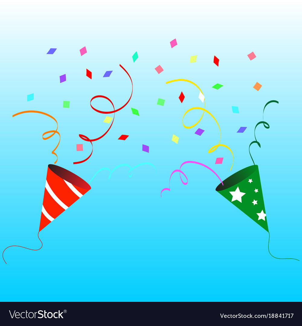 Paper popper party vector image
