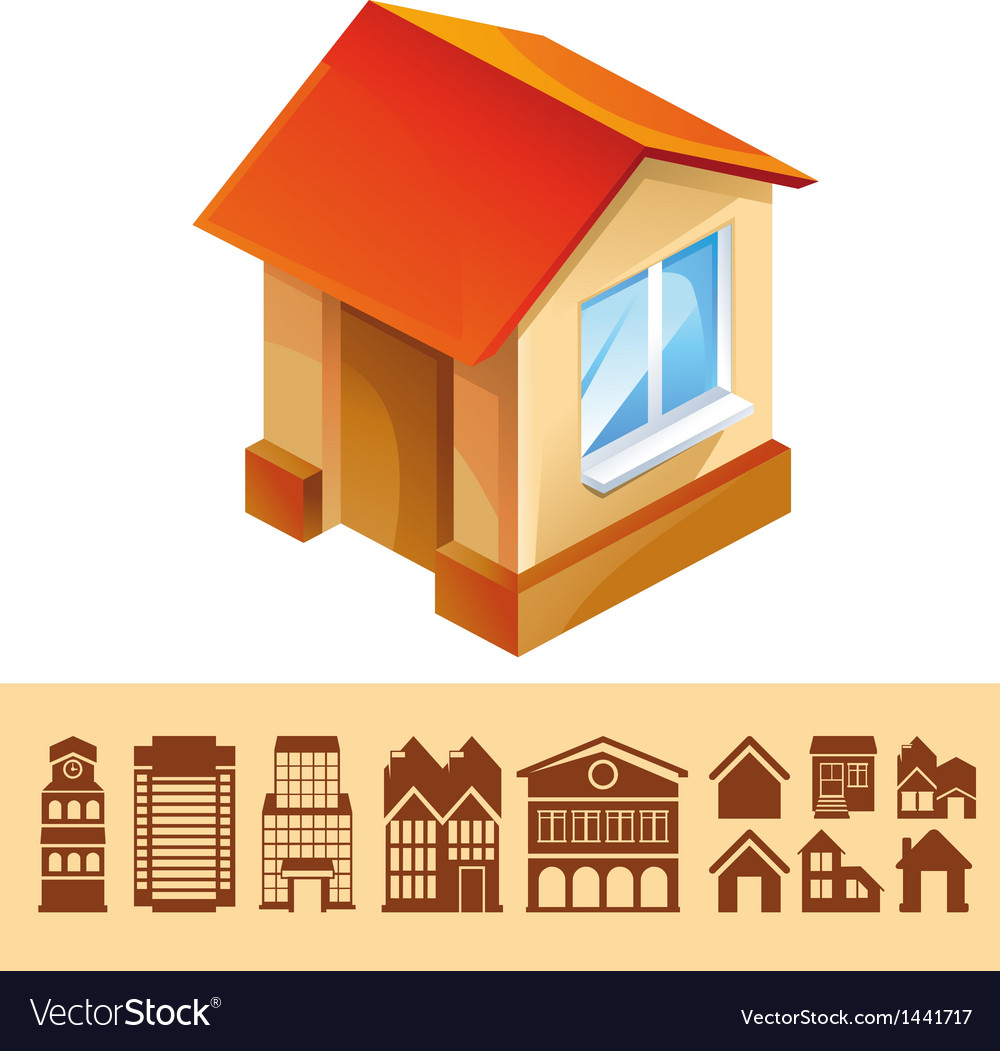 Set of houses icons