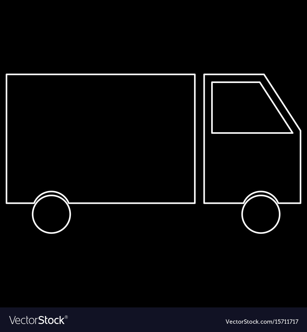 Truck the white path icon vector image