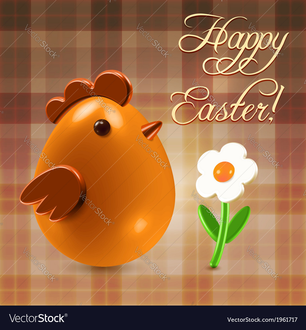 Warm Easter Greetings Postcard Royalty Free Vector Image
