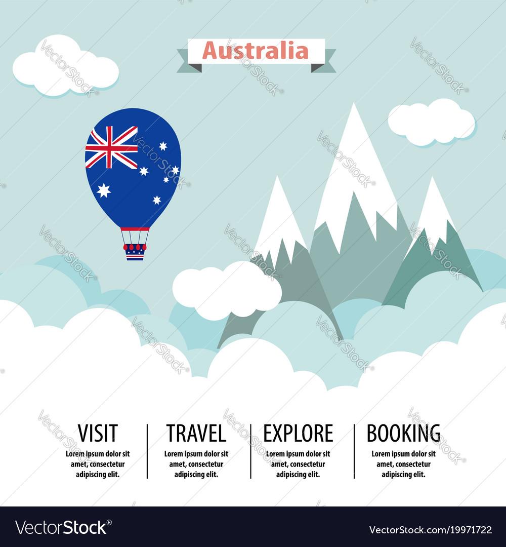 Australia country flat