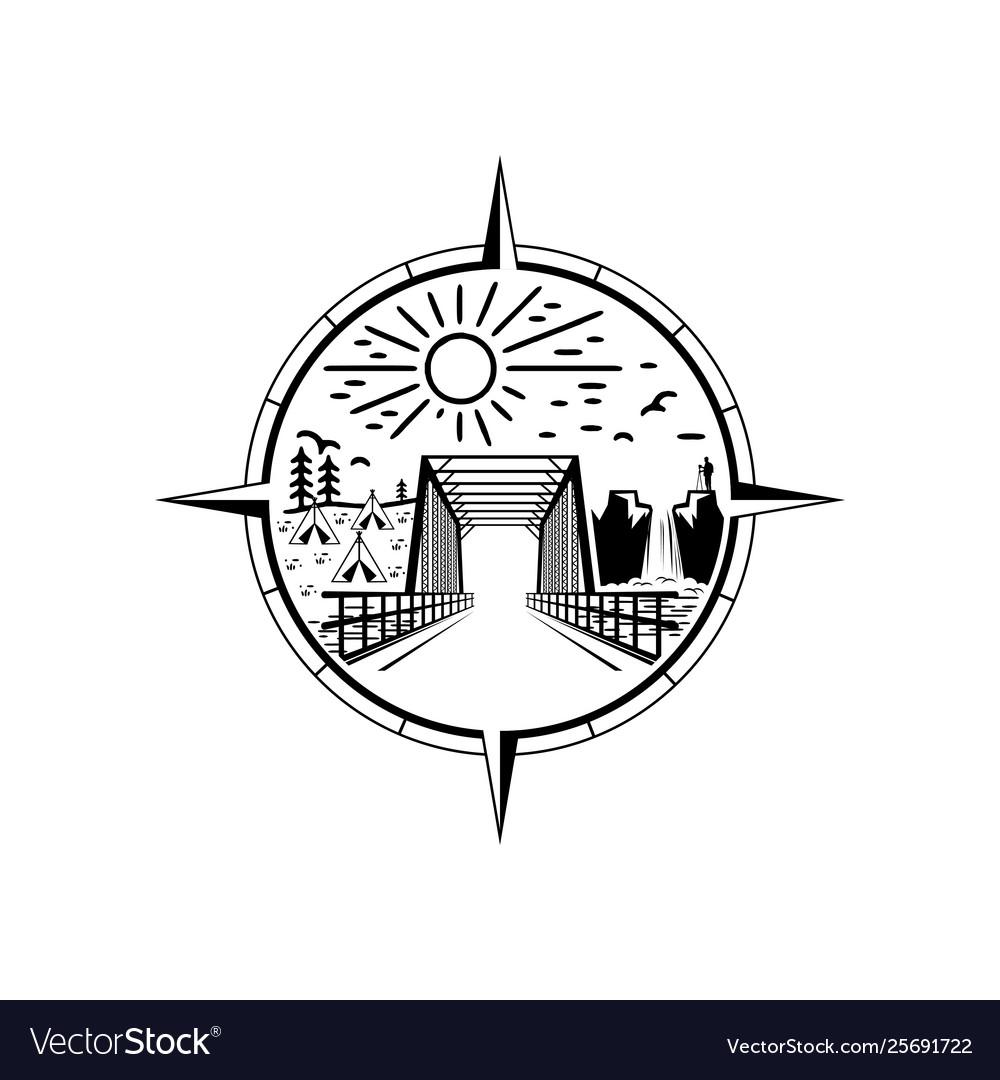 Bridge emblem logo design