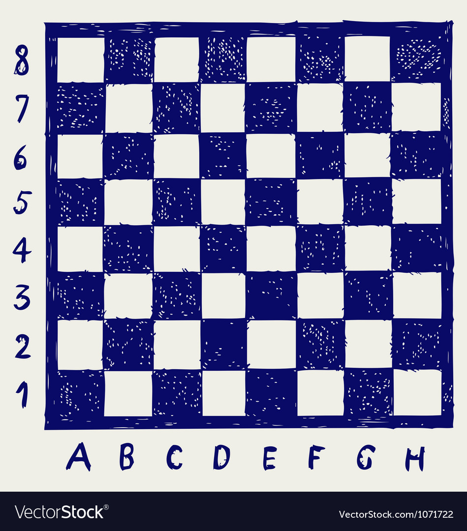 image regarding Printable Chess Board titled Chessboard with letters and figures