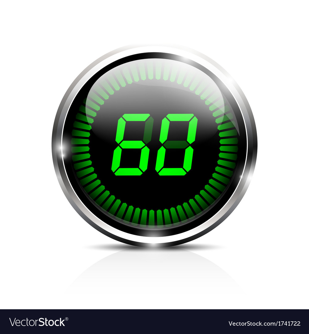electronic timer 60 seconds royalty free vector image