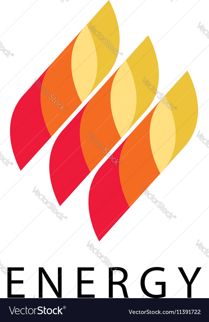 Energy logo abstract fire flame brand