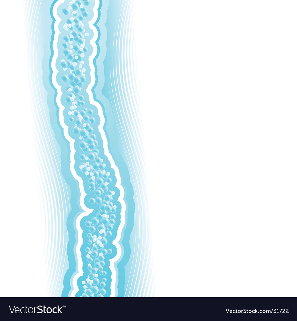 Fresh lined art water flow vector image
