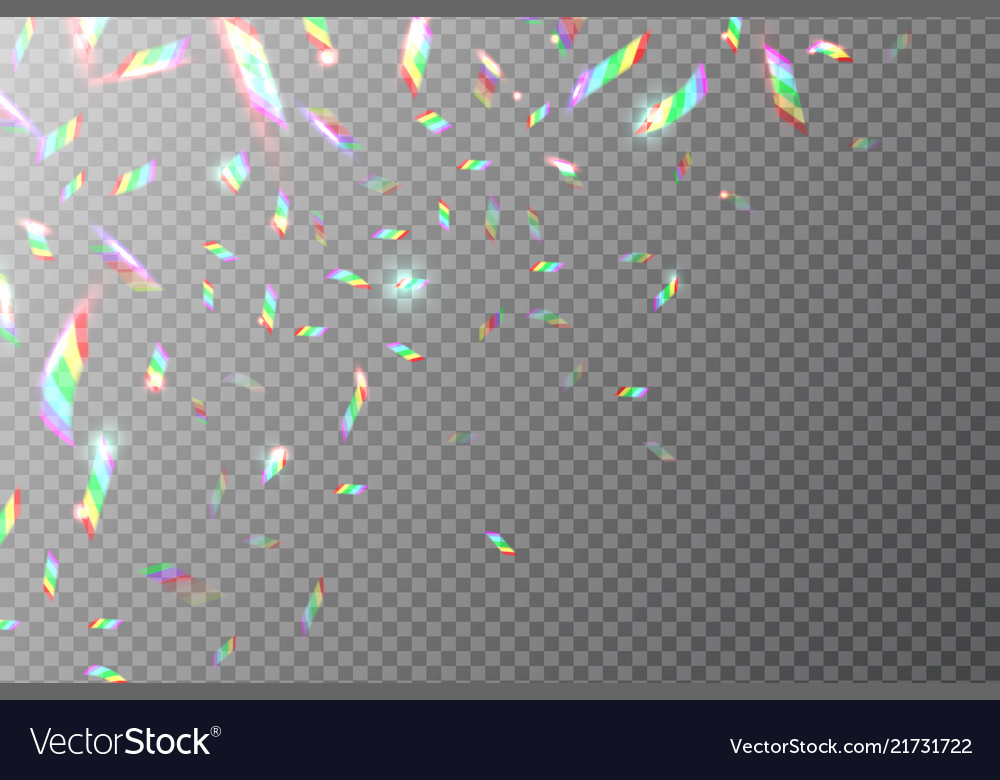 Holographic backdrop flying rainbow foil shining