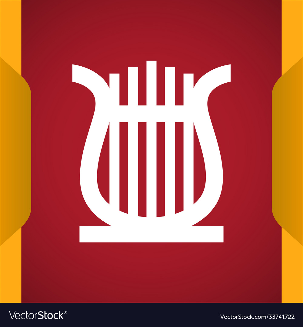 Lyre icon for web and mobile