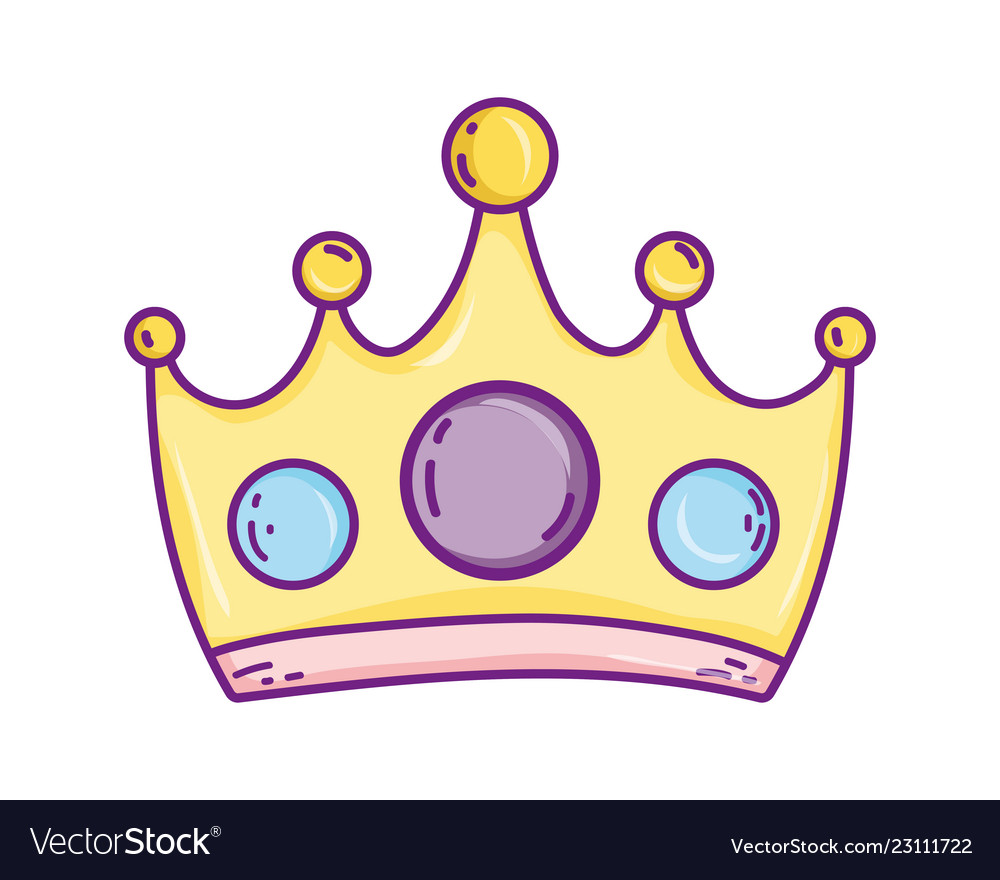 Queen Crown Cartoon Royalty Free Vector Image Vectorstock Download high quality crown clip art from our collection of 41,940,205 clip art graphics. vectorstock
