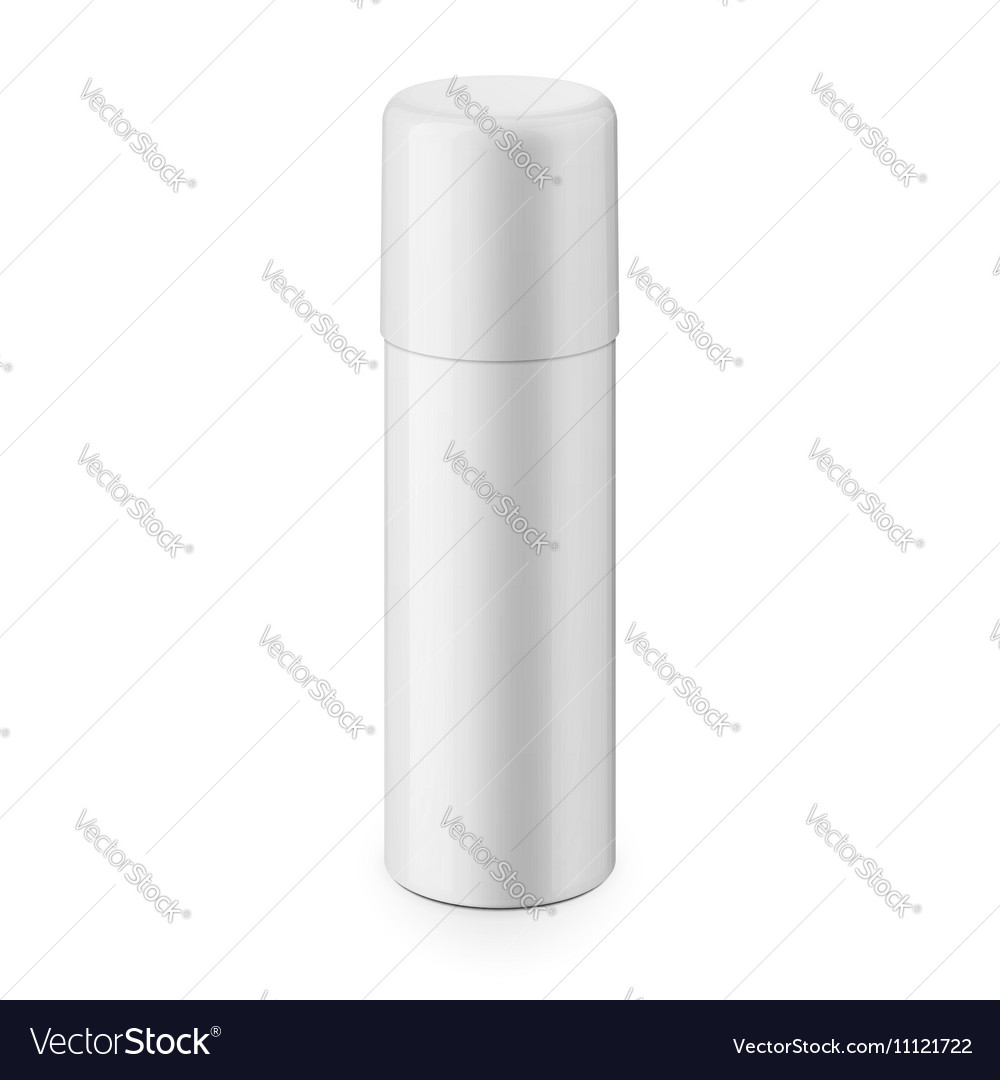 White glossy metal spray bottle with cap