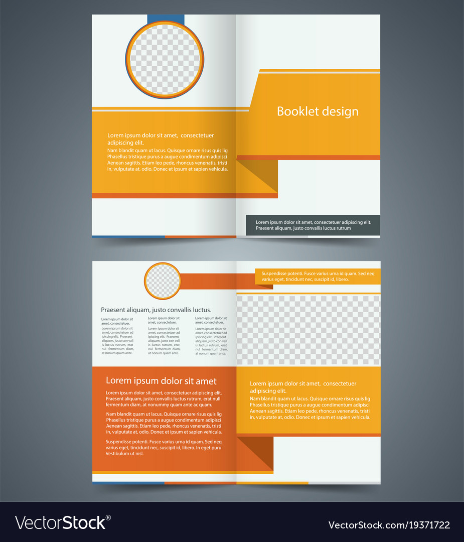 yellow bifold brochure template design royalty free vector
