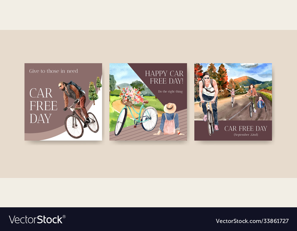 Advertise template with world car free day