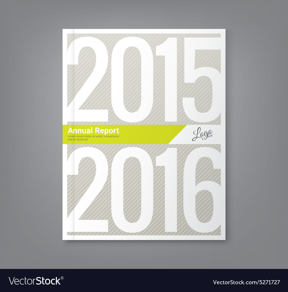 Annual report book cover design vector image
