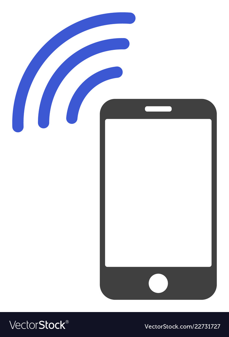 Cellphone Signal Flat Icon Symbol Royalty Free Vector Image
