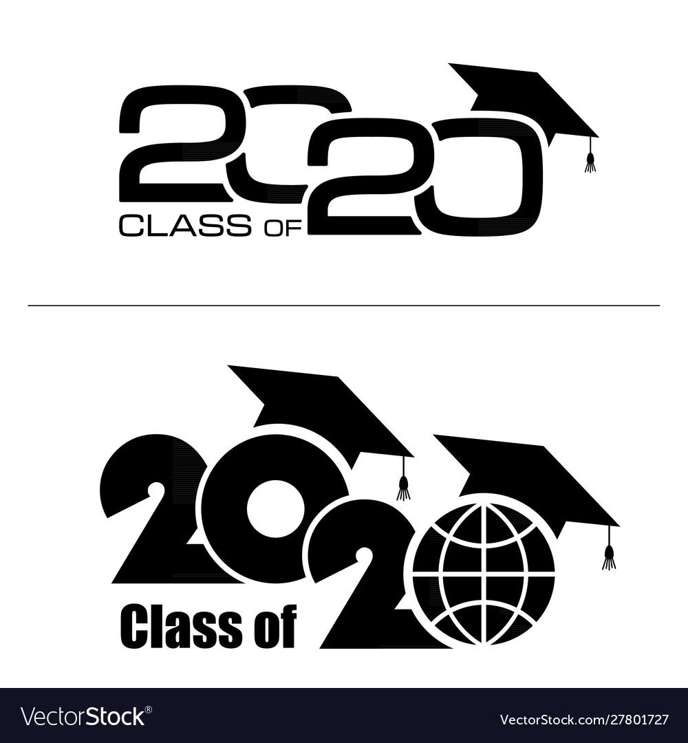 Graduation Background 2020.Class 2020 With Graduation Cap Flat Simple