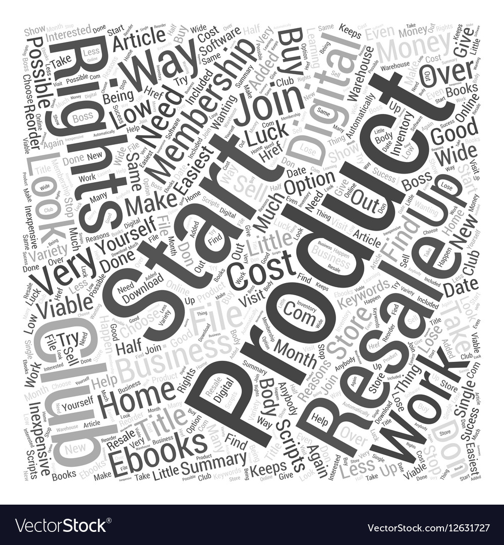 Digital Products with Resale Rights Word Cloud