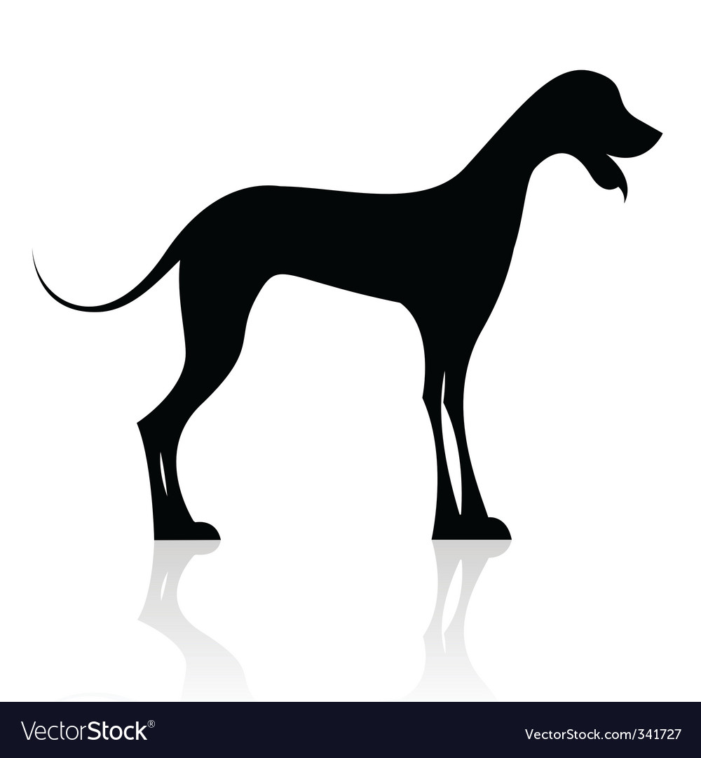 dog silhouette royalty free vector image vectorstock rh vectorstock com dog silhouette vector free dog silhouette vector free download