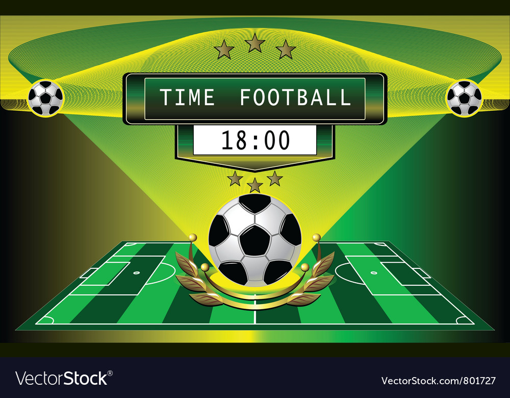 Football timer vector image