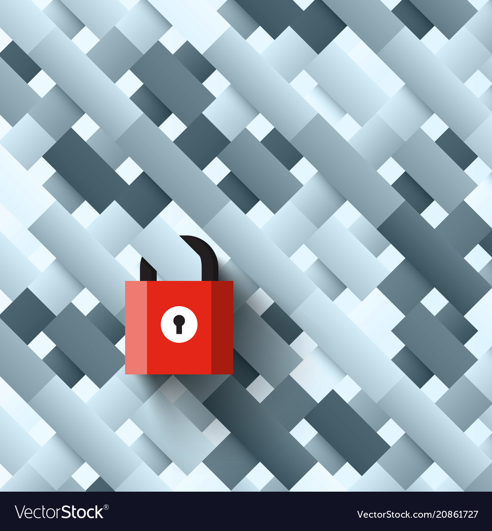 Lock on abstract shapes background locked vector image